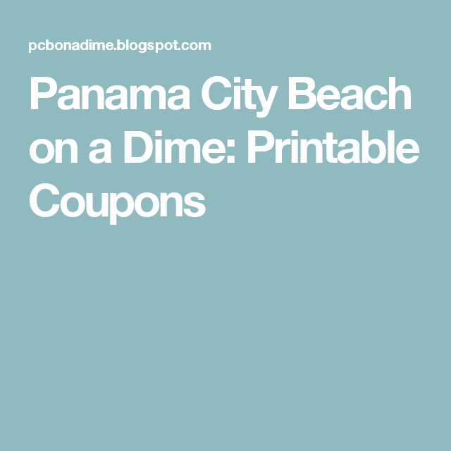 Panama City Beach On A Dime Printable Coupons Kids Eat Free Eat Free Children Eating