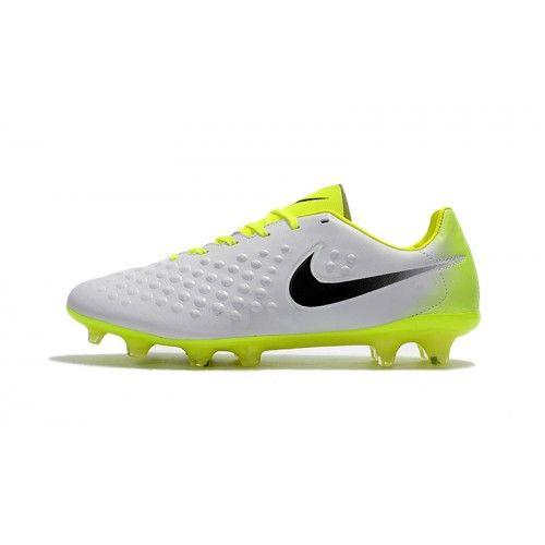 Baratas 2017 Nike Magista Orden II FG Blanco Amarillo Zapatos De Soccer f628d2f319c0c