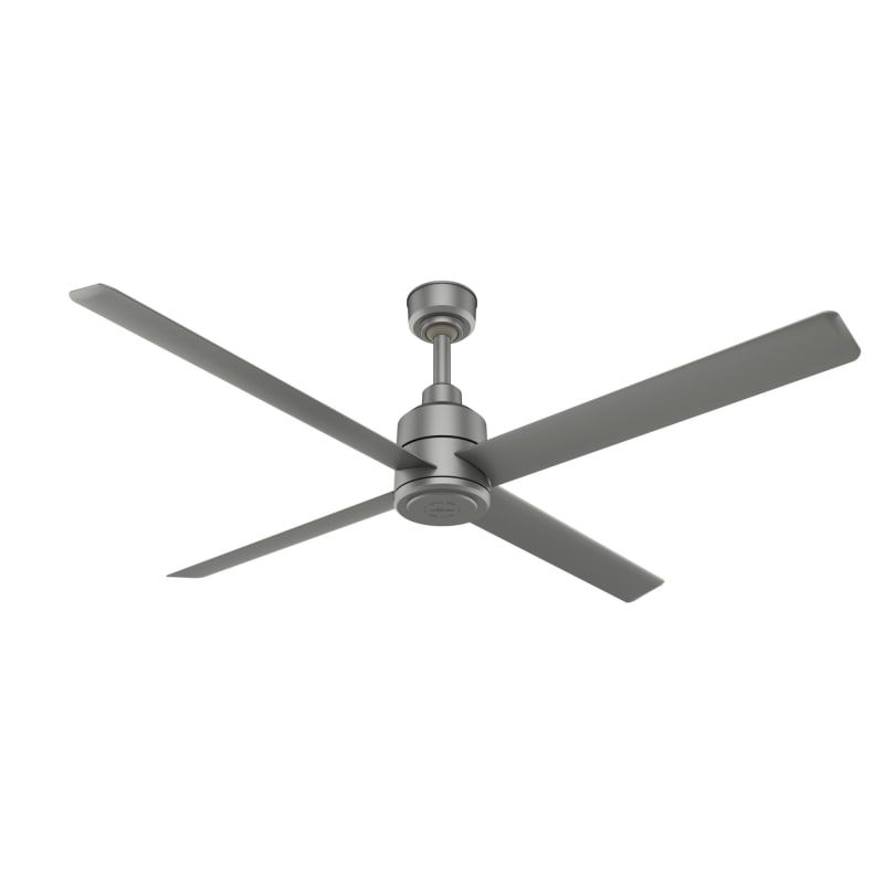 Hunter Industrial 76023 Silver 120 Volt Trak 84 4 Blade Outdoor Led Ceiling Fan With Remote Control In 2020 Ceiling Fan Commercial Ceiling Fans Ceiling Fan With Light