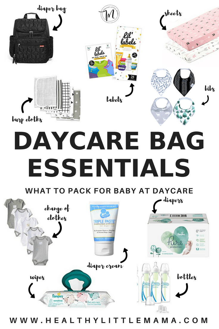 hight resolution of bibs diaper cream labels are total must haves to prepare for daycare essentials bag healthy little mama