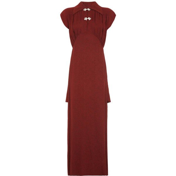 Pre-owned 1930s Russet Gown (£450) ❤ liked on Polyvore featuring ...