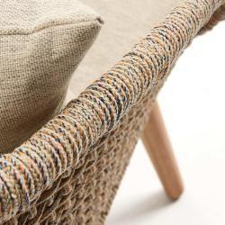 Photo of La Forma Gillian 2-seater sofa eucalyptus / rope multicolor