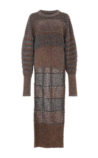 Lurex Knit Poet Sweater by ESTEBAN CORTAZAR for Preorder on Moda Operandi