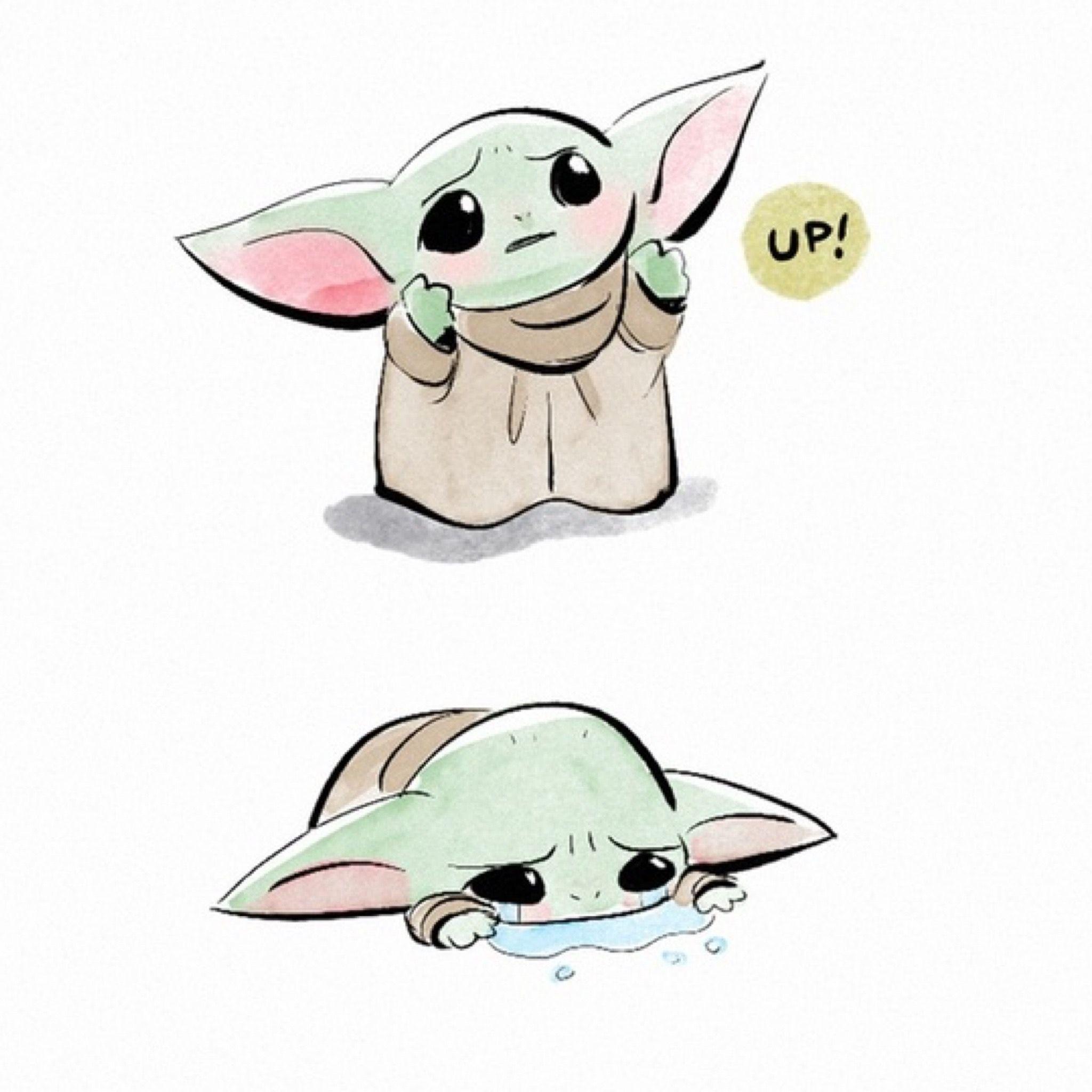 Baby Yoda Startv The Mandalorian The Child Aka Baby Yoda Star Wars Baby Yoda Startv The Mandalorian Cute Cartoon Drawings Star Wars Baby Yoda Drawing
