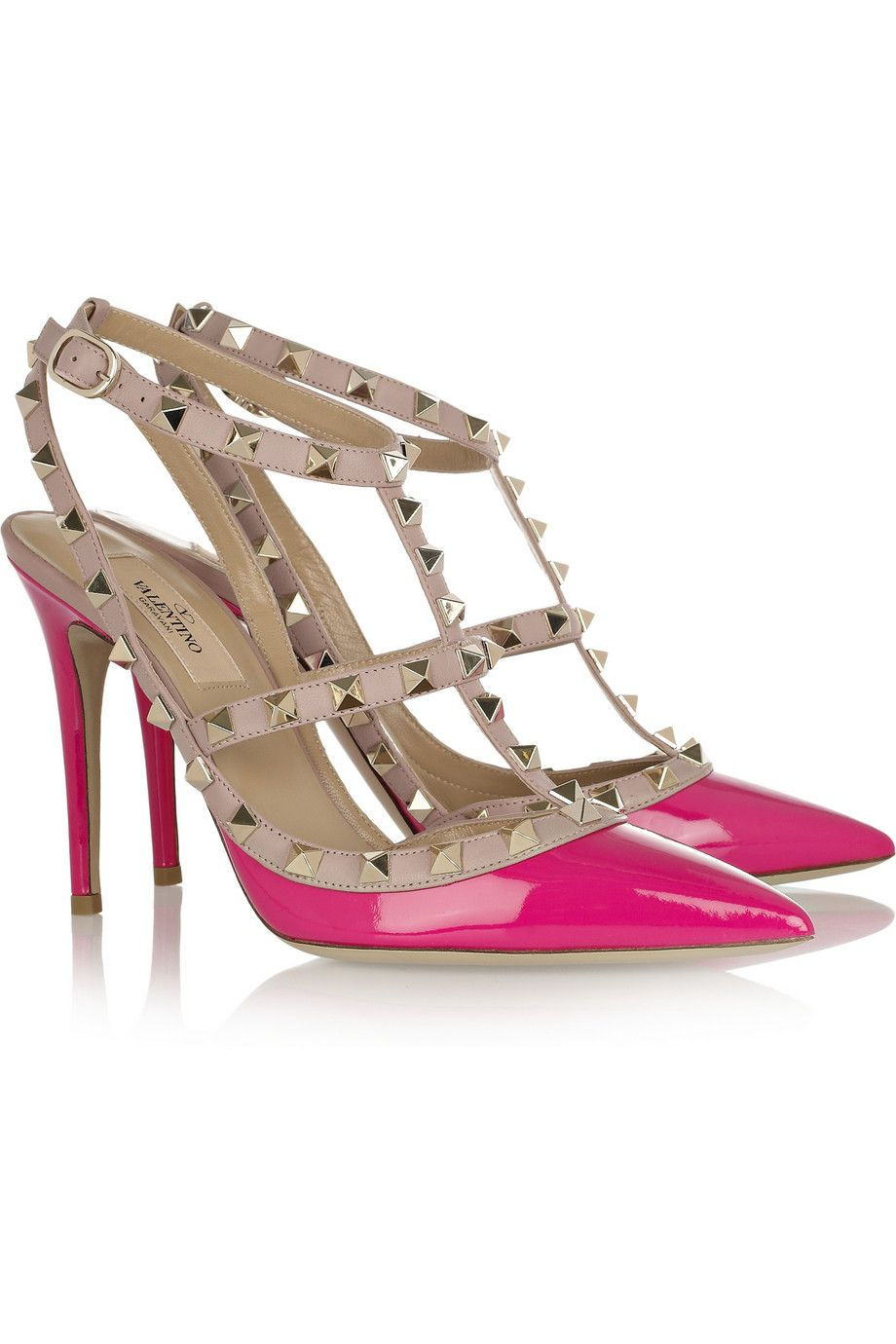 ee74e846db3a Valentino The Rockstud patent-leather pumps
