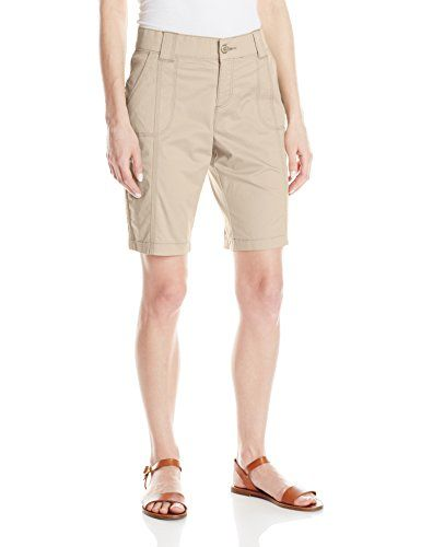Lee Womens Comfort Fit Sully Utility Bermuda Short Flax 4 Click