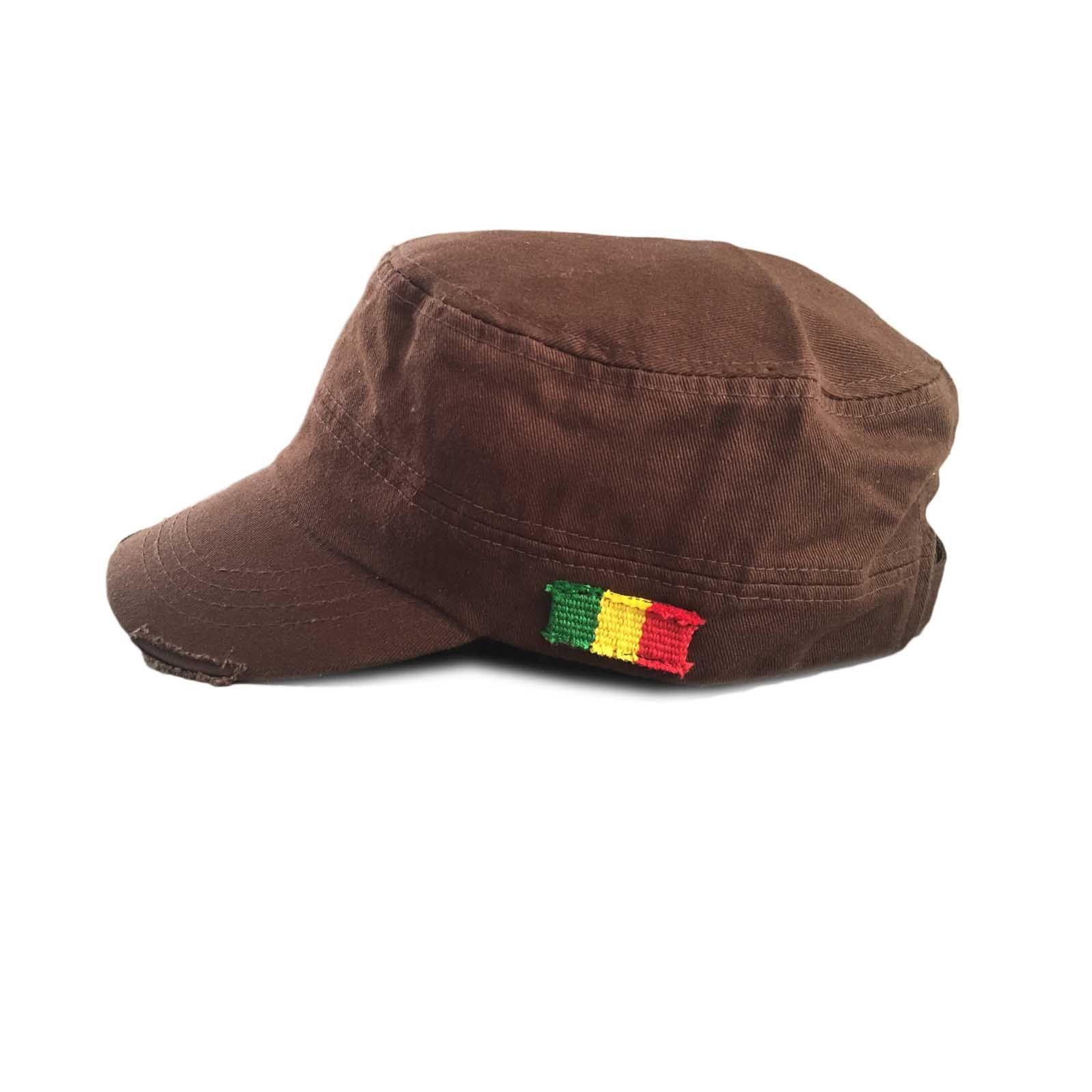 Rastacap Army Black Rasta Cap Cadet Military Style Hat Army Cap Castro 1sz  Fit 072503303fe