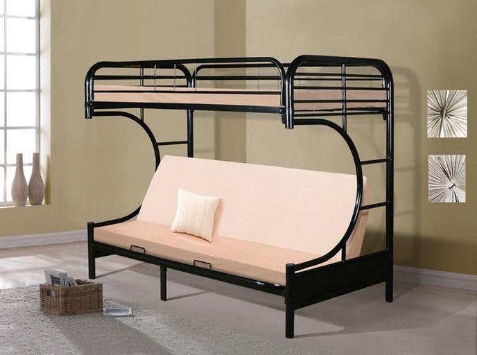 Metal Bunk Beds Futon