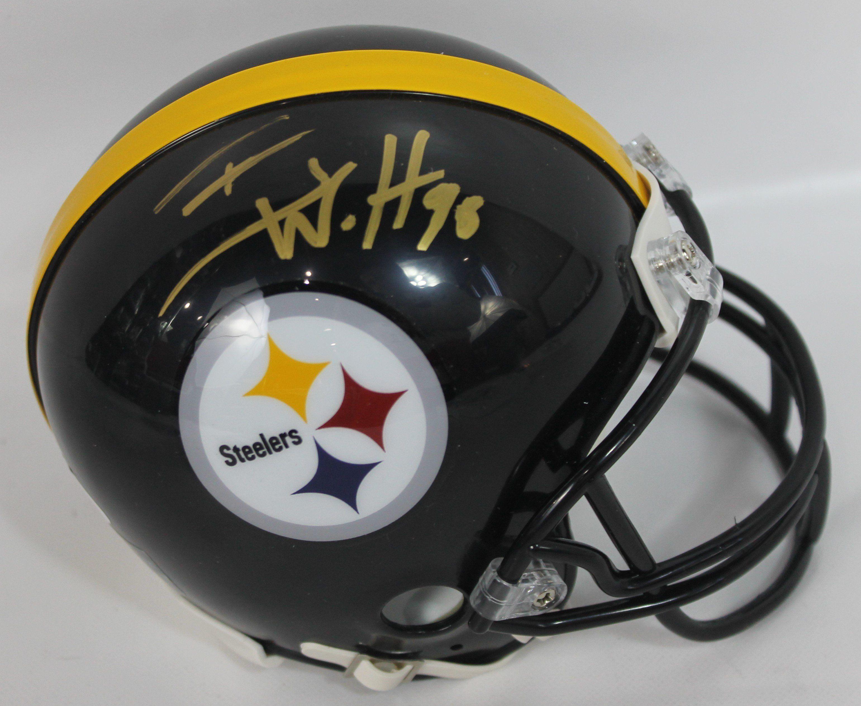 9836afbe6 T.J. Watt Autographed Pittsburgh Steelers Mini Helmet w  JSA COA ...