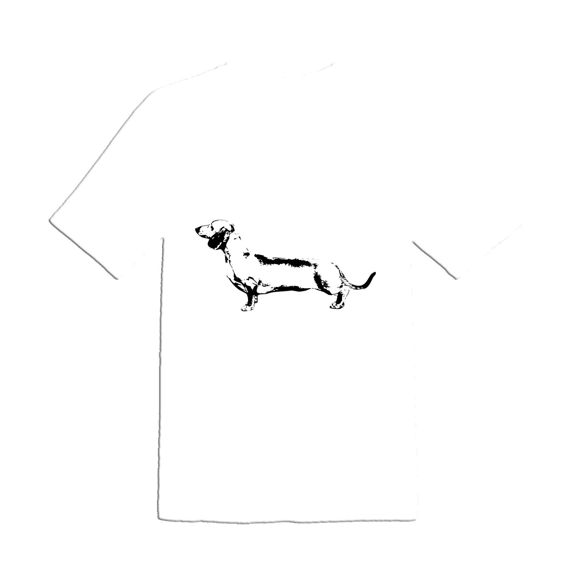 dachshund outline stencil weiner dog vector art images for cut files or prints  [ 1920 x 1929 Pixel ]