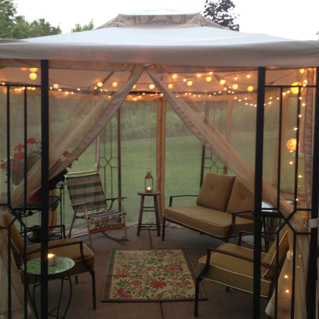 Outdoor Gazebo Lighting Prepossessing Outdoor Gazebo  For The Home  Pinterest  Outdoor Gazebos Decorating Design