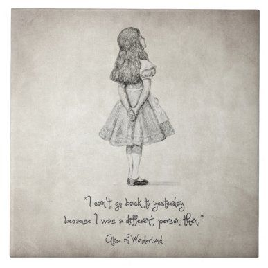 I can't go back to yesterday Quote Photo Print   Zazzle.com