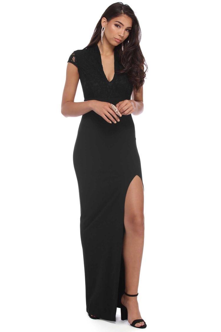 Helena black lace formal dress windsorcloud my dress pinterest