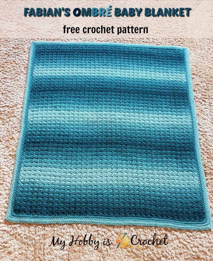 Fabian\'s Ombré Baby Blanket - Free Crochet Pattern | Häkeln