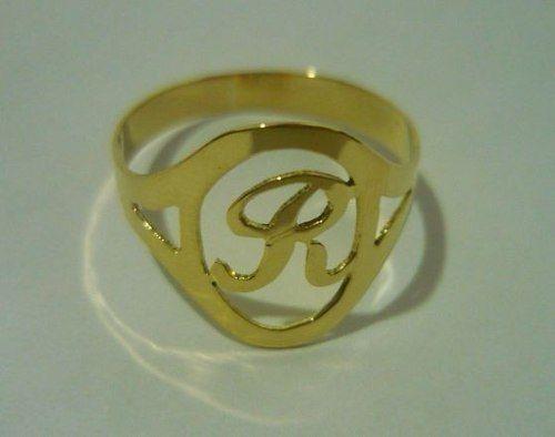 joalheria anel de letra