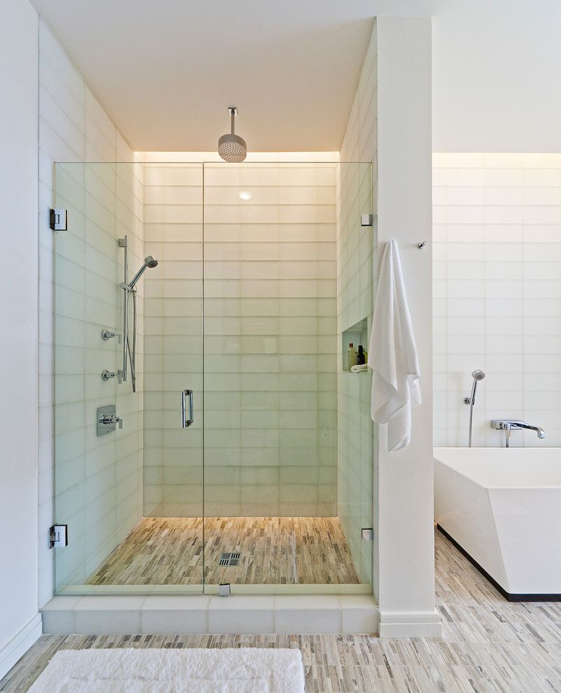 glass-tile-shower-Bathroom-Transitional-with-accent-tile-blue-tile ...