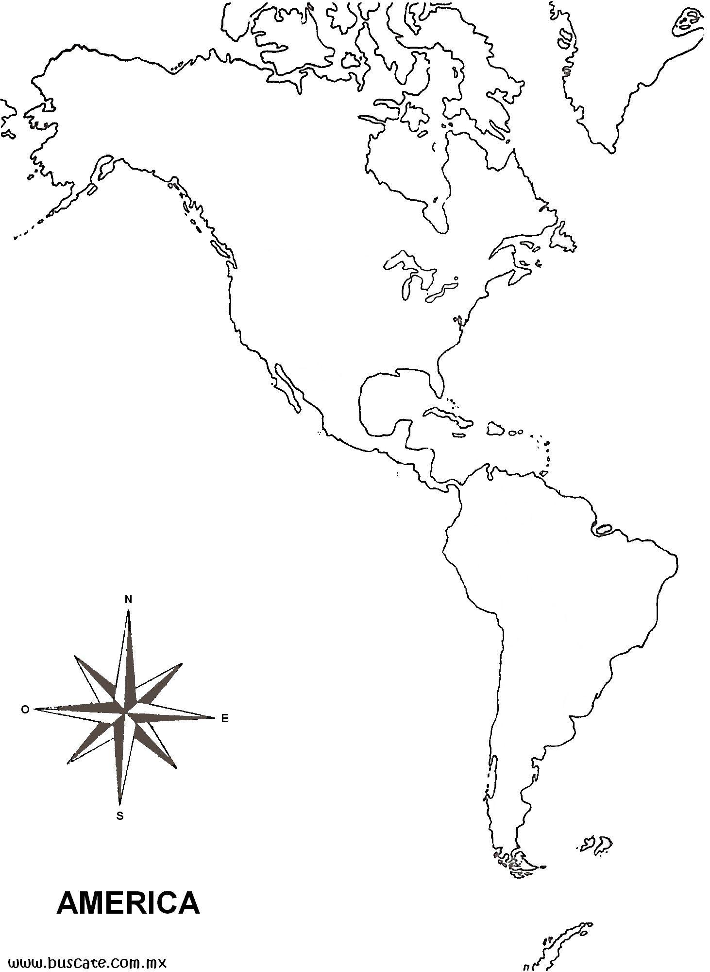 Am Rica Mapas Gratuitos Mudos En Blanco In America Latina Mapa Sin
