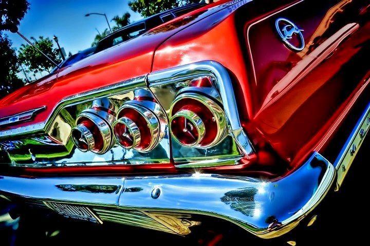 Red 1963 Impala Rear Deck Nice Chrome 63 Chevy Impala Chevy Impala Impala