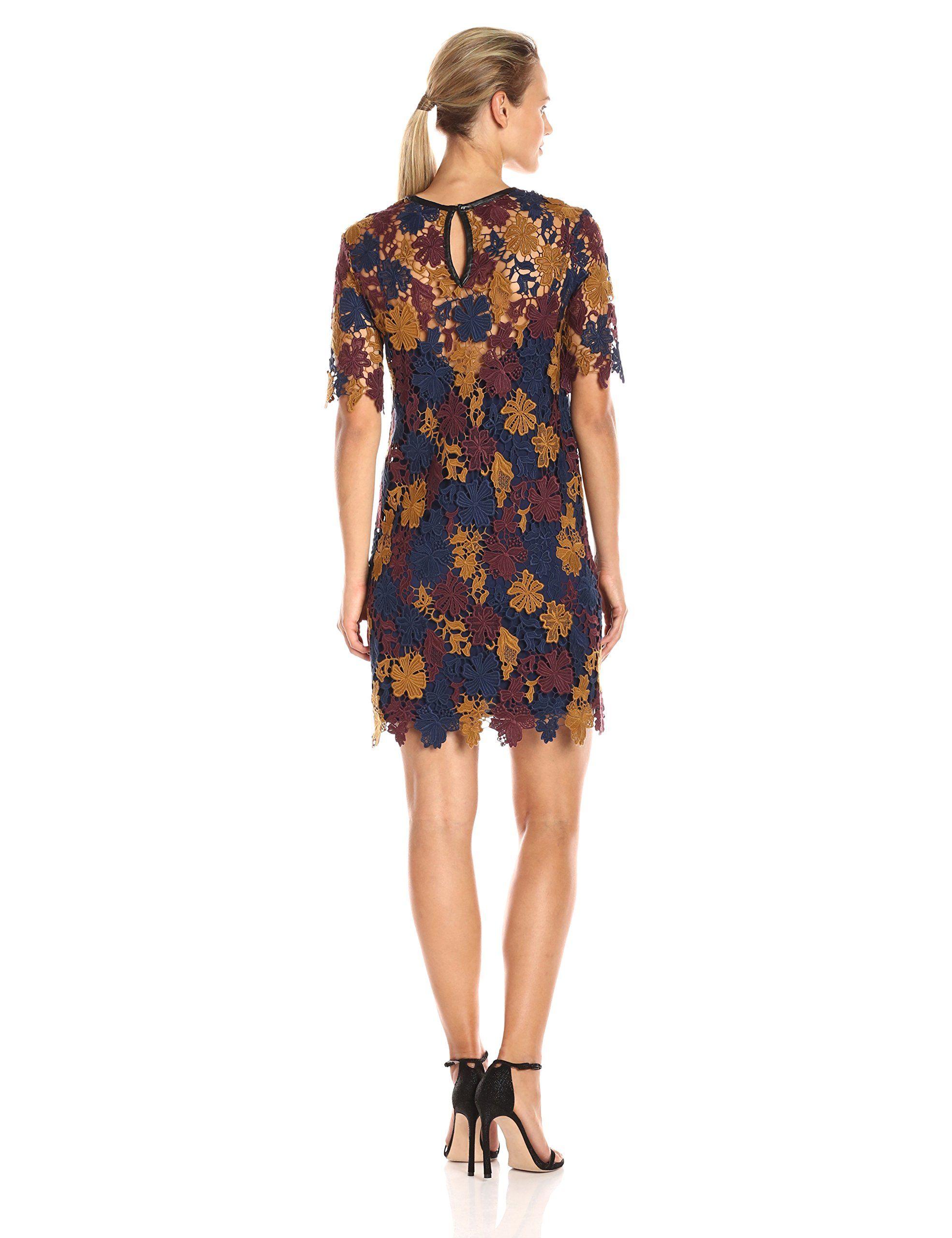 Lace dress navy  ASTR the label Womens Charlotte Lace Dress NavyWine Multi Medium