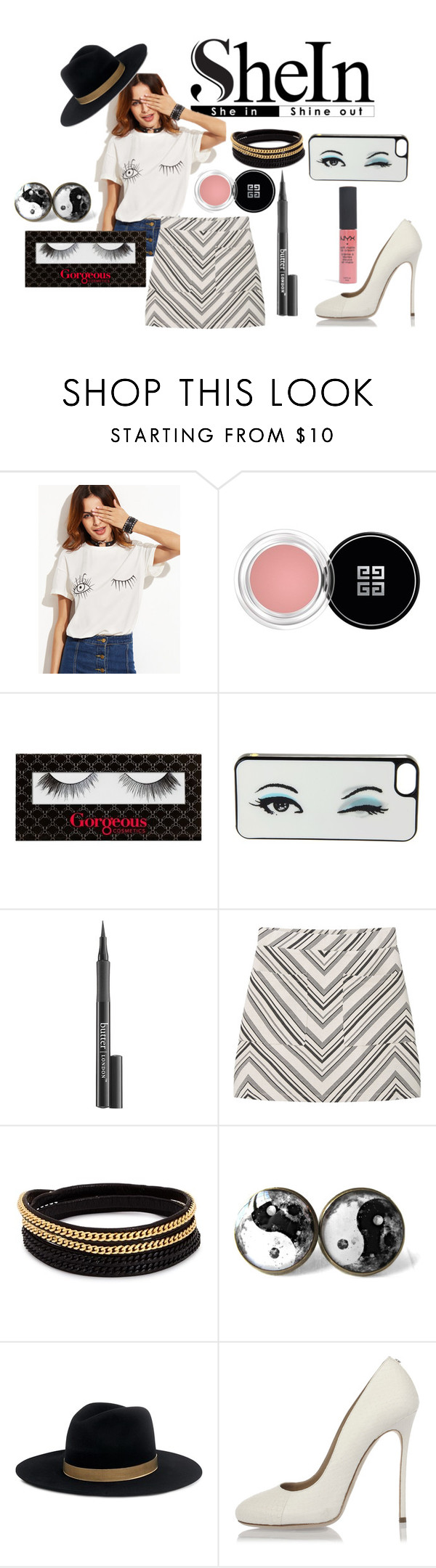 """""""Wink"""" by soph13-13 ❤ liked on Polyvore featuring Givenchy, Kate Spade, Butter London, MANGO, Vita Fede, Janessa Leone and Dsquared2"""