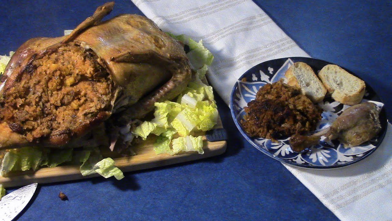 How To Make Stuffed Duck طريقة تحضير البط المحشي In 2021 Food Cooking Beef