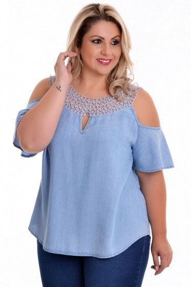 6bf32d7b9 Blusa Plus Size Ciganinha Must | Fashion | Pinterest | Moda, Blusa ...