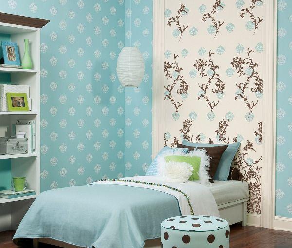 Комбинирование разных обоев в интерьере | Дизайн спален ...