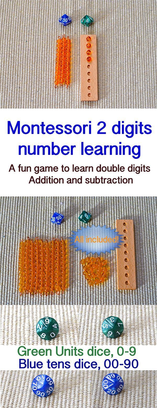 double digits number learning toy / Montessori inspired golden bead math toys / homeschool / place value / learning toys / gift for children