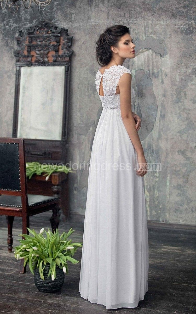 Usbohemian wedding gown from chiffon french lace boho wedding