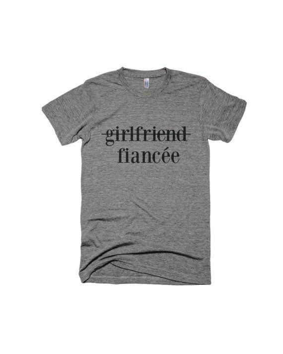 0800f8ab1 Girlfriend to Fiancee Shirt-Engagement Shirt- girlfriend fiance ...