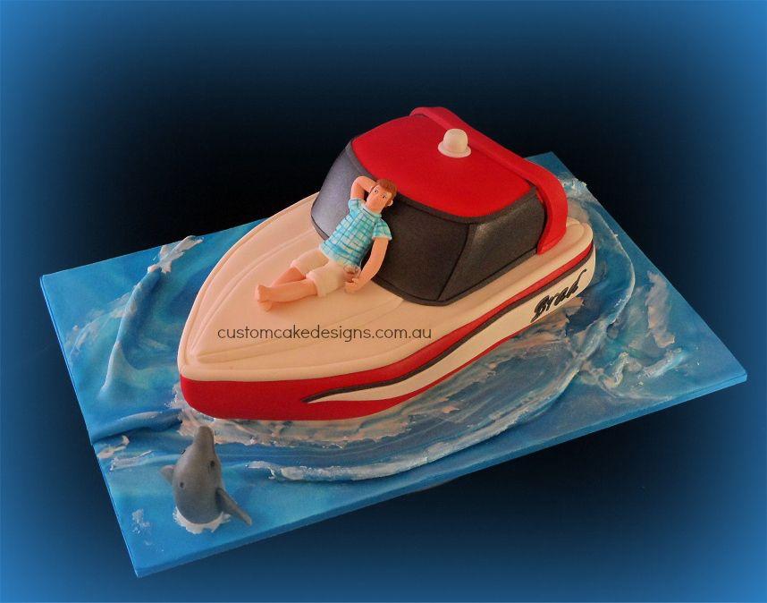 Fishing Boat Cake Google Search Cake Decorating Pinterest - Fishing boat birthday cake