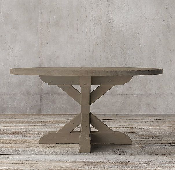 Salvaged Wood X Base Round Dining Table Dining Table Round Dining Table Rectangular Dining Table