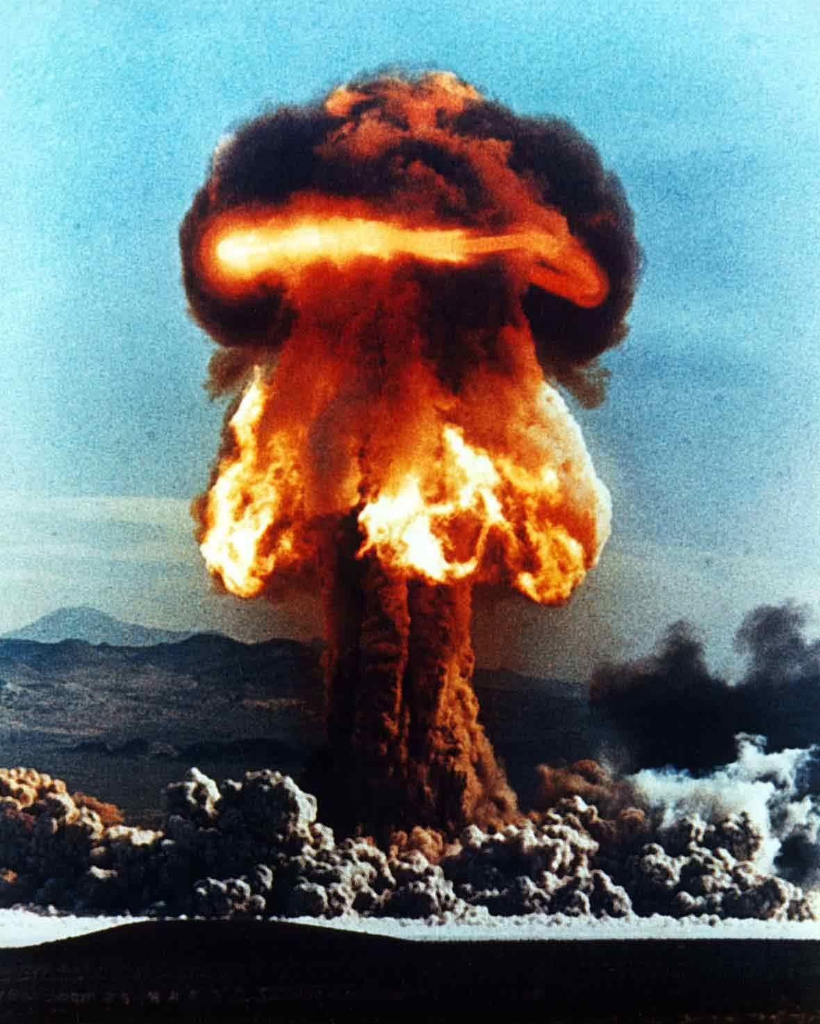 Doomsday Preparation Stockpile Canned Food Atomic Bomb Explosion Nuclear Bomb Atomic Bomb