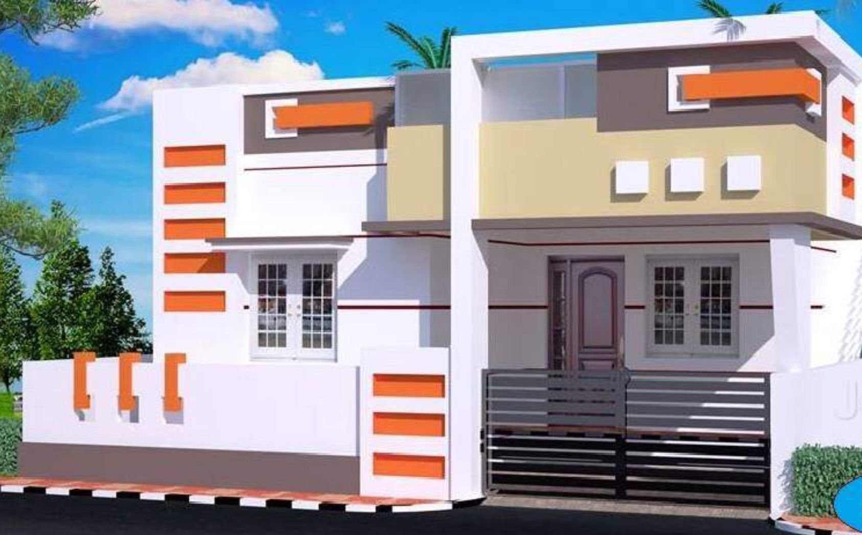 Independent House House Front Design House Elevation Small