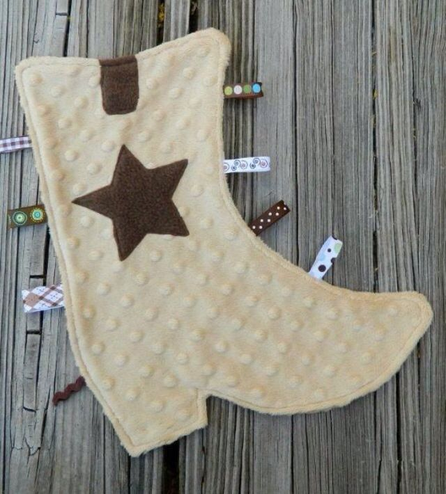 Cowboy boots taggie | Sewing | Pinterest