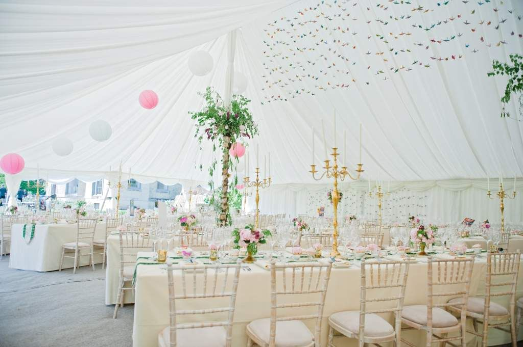 Origami hanging between the marquee poles someday maybe alresford marquees specialises in marquee hire wedding marquees party marquees and corporate marquee hire across hampshire surrey sussex berkshire junglespirit Gallery