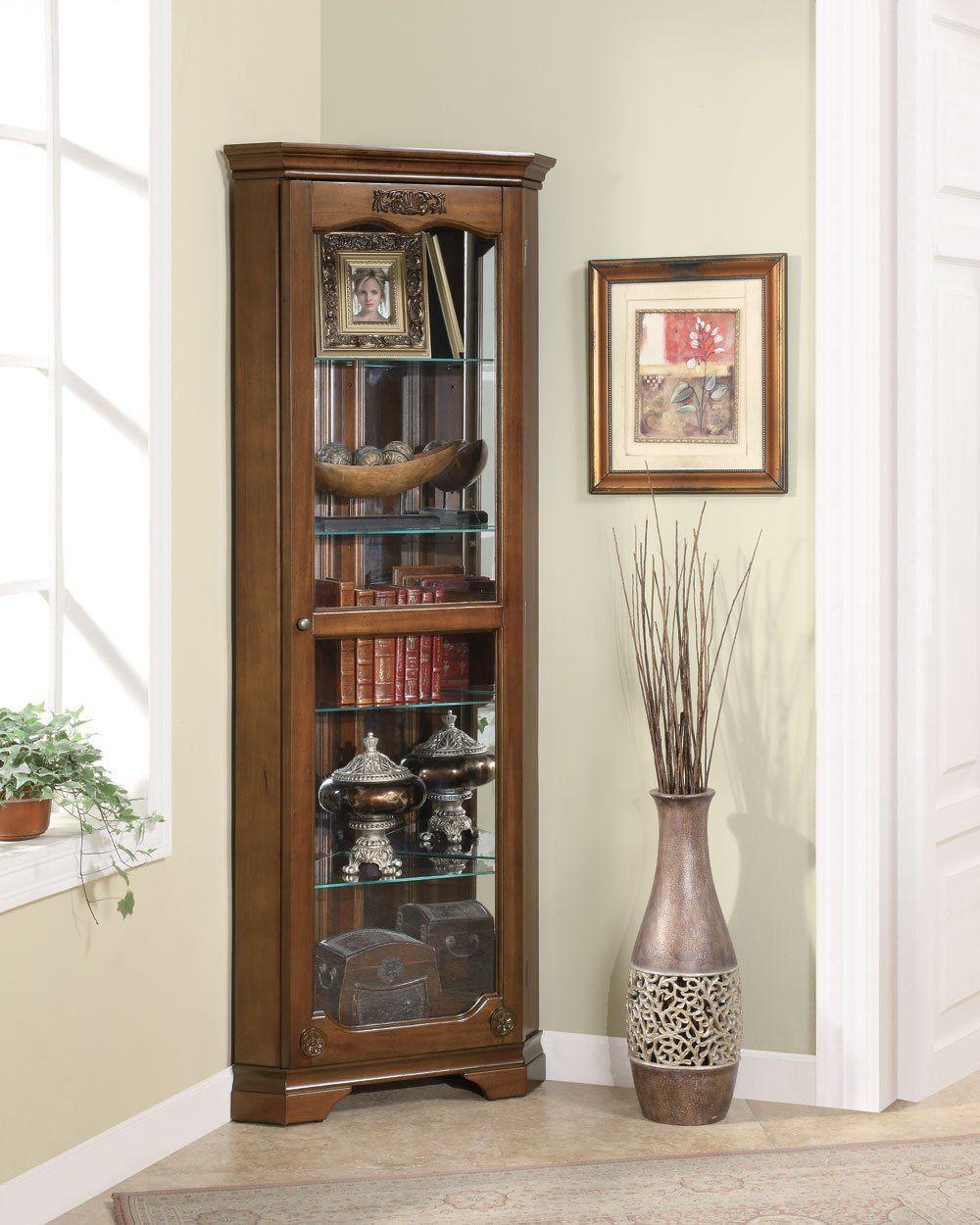 Shelf across kitchen window   shelf corner curio with  door u acanthus leaf top  products