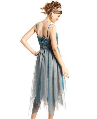 3632b52c58703 Roberta Juniors Dress, Sleeveless Jeweled Tulle Illusion - Juniors Dresses  - Macy's