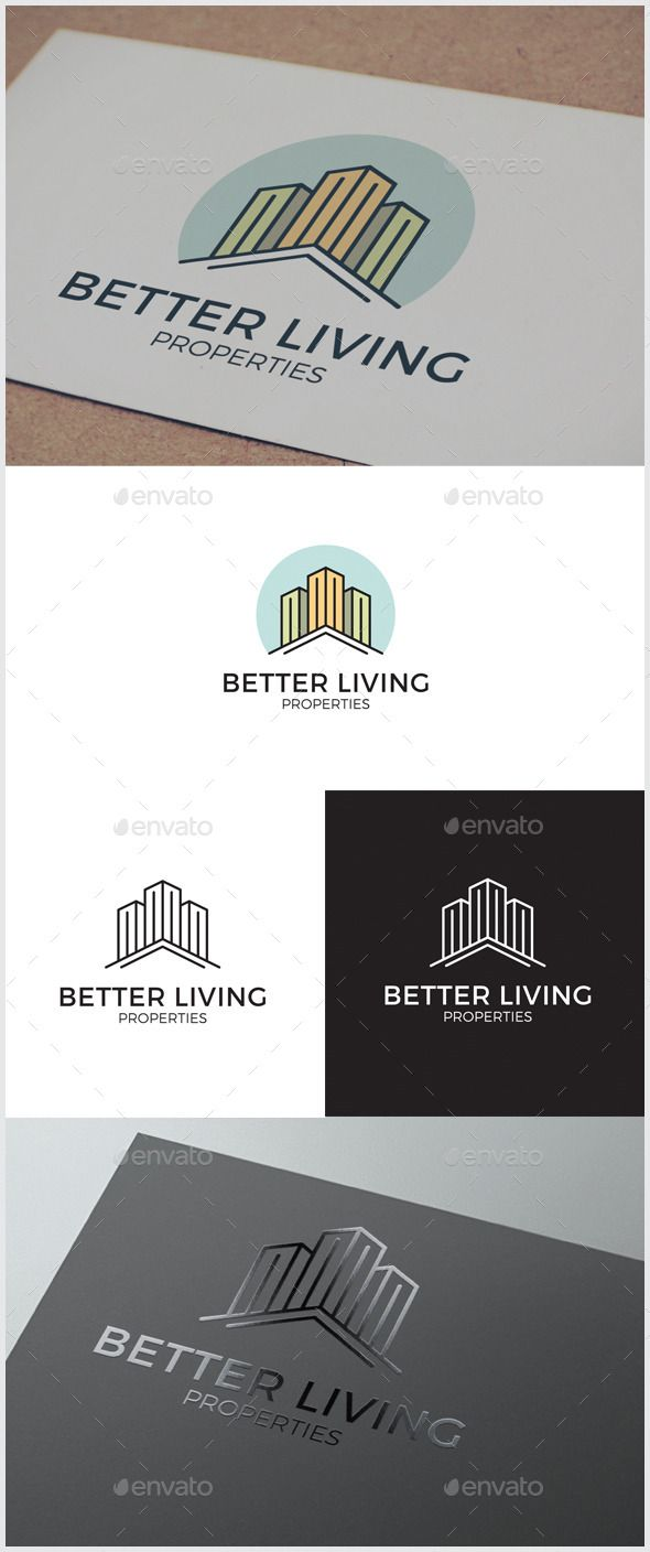 Better Living Real Estate Logo By 3eka Logo Template Suitable For Any Kind  Of Business Related To Real Estate, Architecture, Property Rentals.