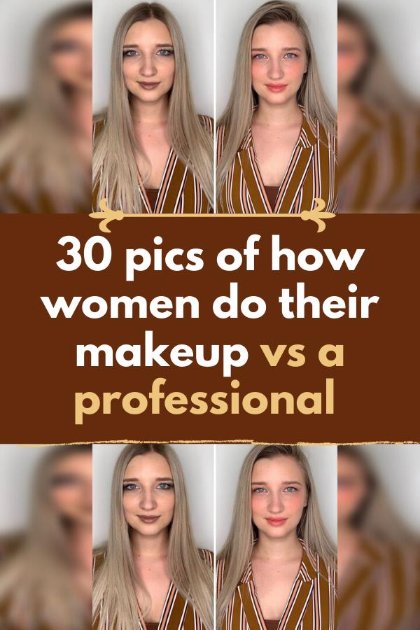 30 Pics Of How Women Do Their Makeup Vs A Professional In 2020 Putting On Makeup Diy Beauty Makeup Diy Beauty