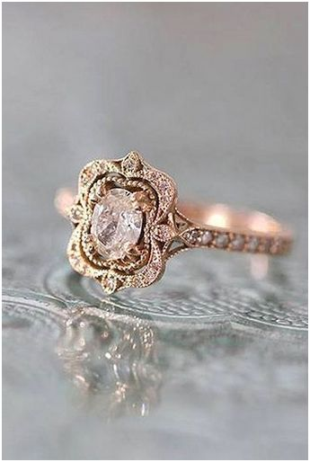 222 Luxury Rose Gold Engagement Ring Vintage For Your Perfect