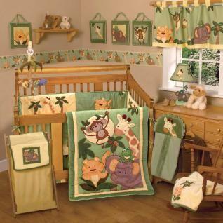 Jungle Baby Nursery Ideas Safari Neutral 6pc Crib Bedding Set For Boy Or