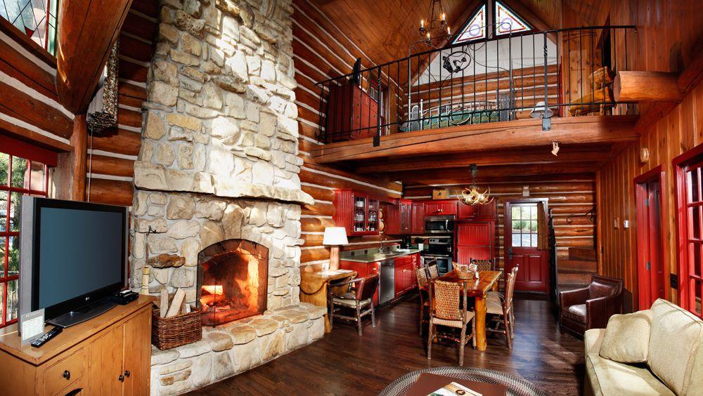 Private Cabin Interior At Big Cedar Lodge.
