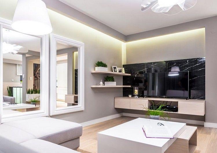 Wandgestaltung Im Wohnzimmer U2013 85 Ideen Und Moderne Beispiele #beispiele  #ideen #moderne #wandgestaltung #wohnzimmer