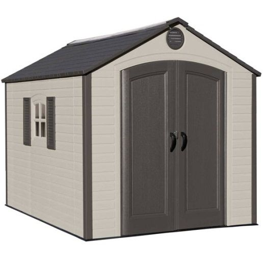 Lifetime Storage Shed 60056 8 X 10 Full Length Skylight Plastic Sheds Outdoor Storage Sheds Plastic Storage Sheds