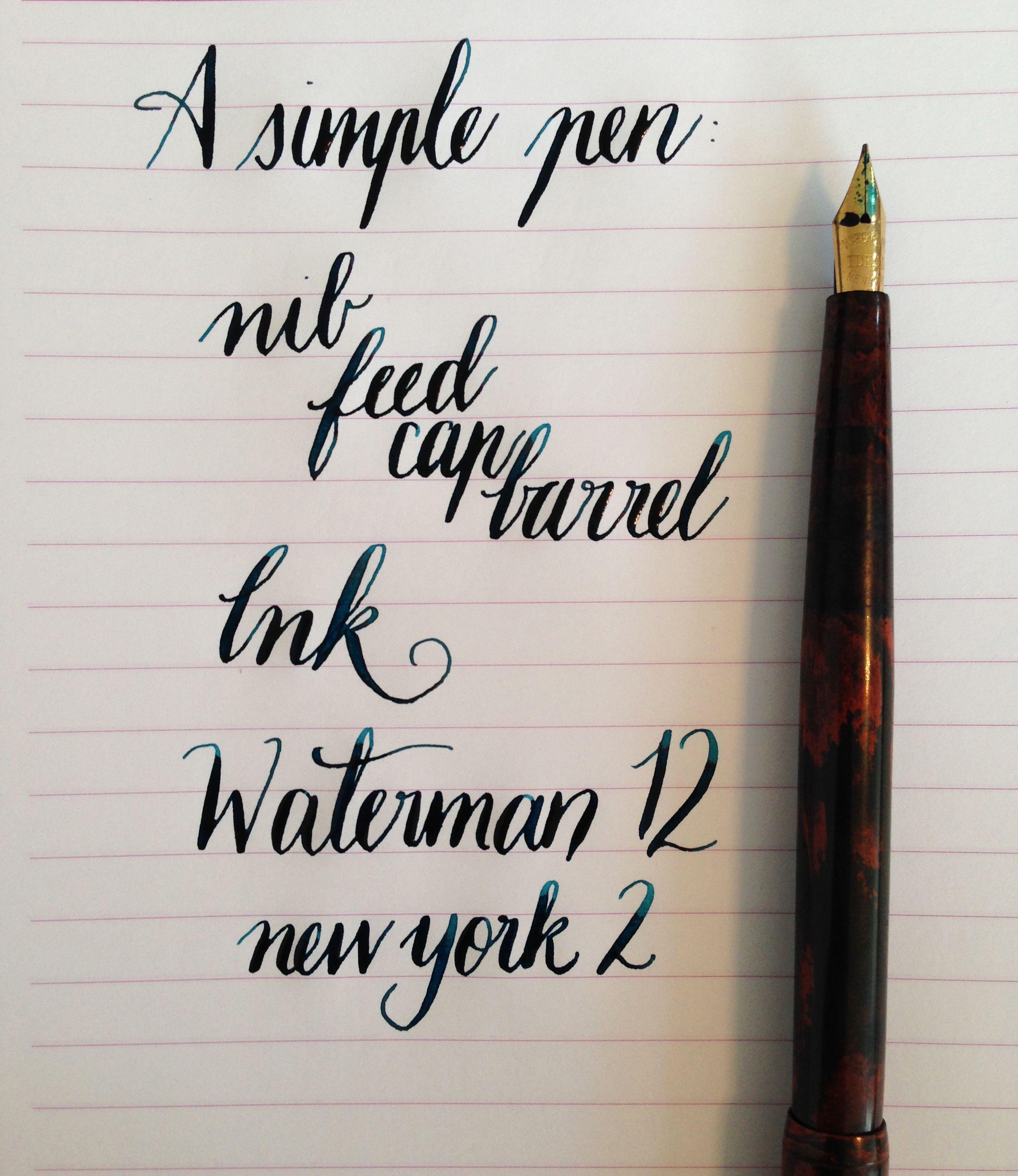 Handwritten Post. A Simple Pen
