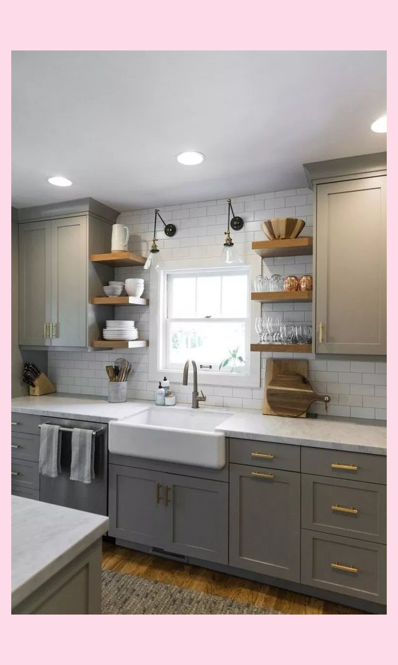 62 Inspiring Kitchen Cabinet That You Must See 32 Kitchenremodel Cabinet Inspiring Kitchen In 2020 Diy Kitchen Remodel Kitchen Remodel Small Kitchen Design Small