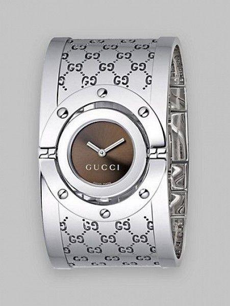 8f3a6c3a100 Twirl Bangle Watch by Gucci