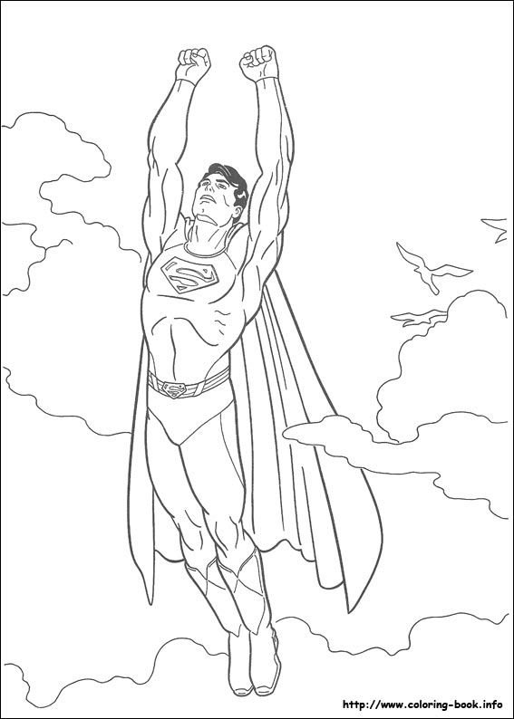 Superman Coloring Picture Boyama Sayfalari