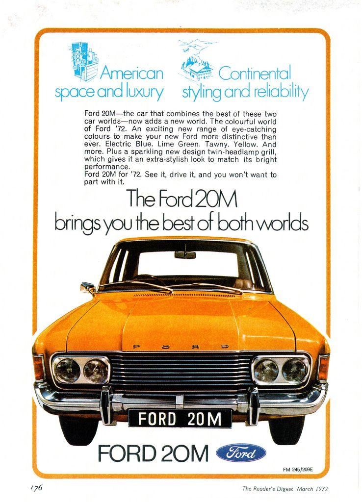 1972 Ford 20m South Africa Ford Deutschland Schone Autos